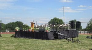 Commencement Stage Tiered